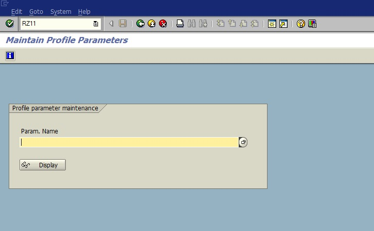 "Activate ""Paramater Change"" Option for TCODE : RZ11"