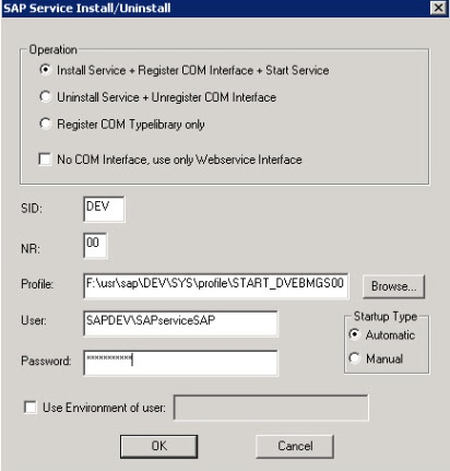 "Create ""SAP Service"" Manually on Windows Systems"