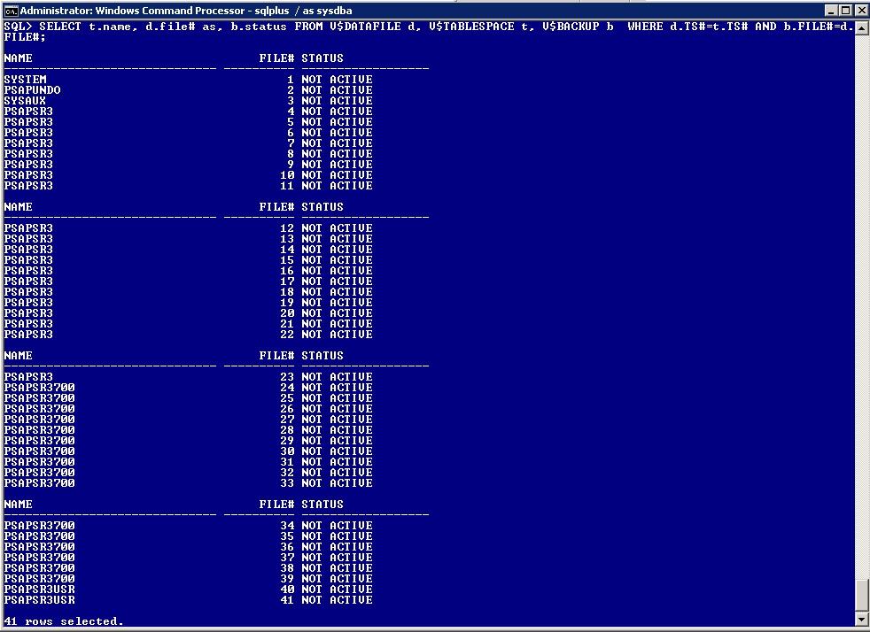 Oracle Database Backupmode Control