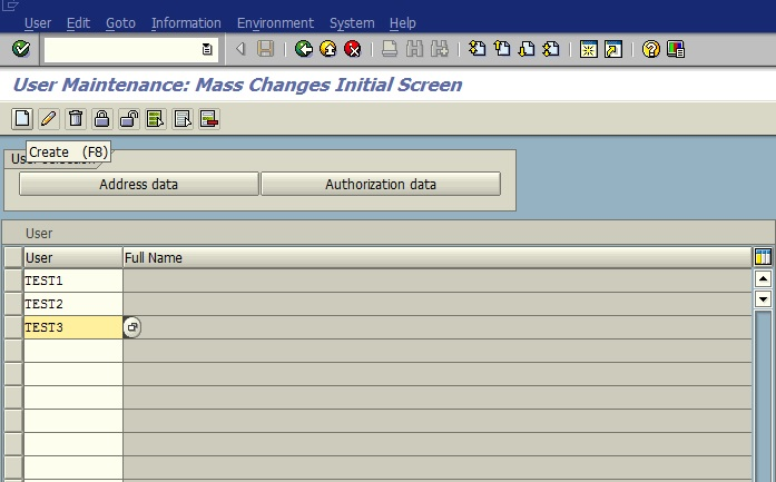 MASS User Creation for SAP