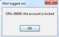 ORA-28000:the account is locked