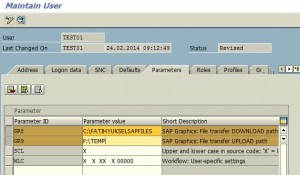 UPLOAD and DOWNLOAD Locations for SAP Users GR8 GR9