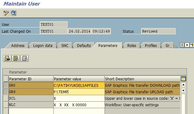 UPLOAD and DOWNLOAD Locations for SAP Users