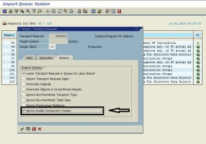 requests do not match the component version of the target system 04