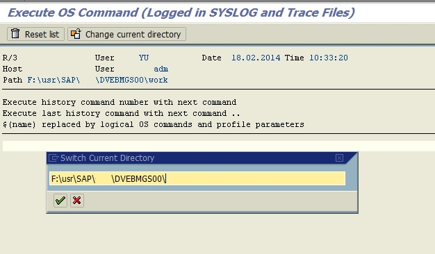 Execute Operating System Commands in SAPGui | SAPBASISINFO
