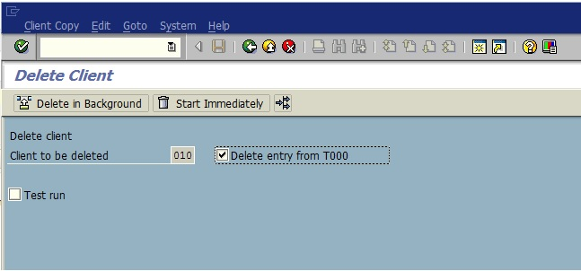How to Delete a SAP Client