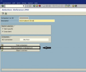 Compare Two SAP System or Client 05