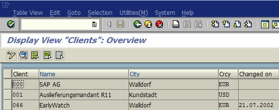 Understanding the SAP clients 000, 001 and 066