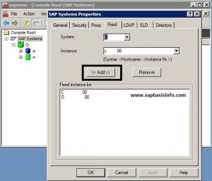 Adding SAP System to Single MMC