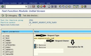 Creating Transport Request Using SAP Function Module