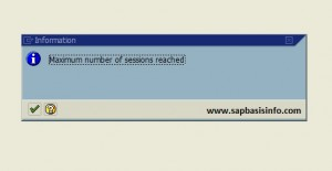 Increase maximum number of SAP sessions per user