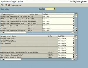 SE06 : System Change Option