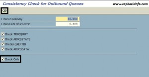 Consistency Check for Inbound and Outbound Queues