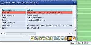 SP01 : Incorrect (Error Sending Data)