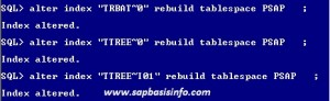 IN_WRONG_TABLESPACE After SAP Version Upgrade