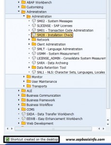 Create SAP Transaction Code Shortcut on the Desktop