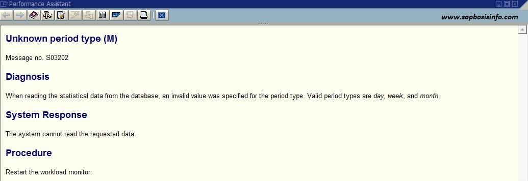 "ST03 : ""Unknown Period Type"" Message"