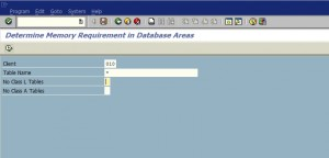 Find size of SAP client