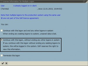 Multi Logon to SAP system