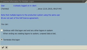Multi Logon to SAP system