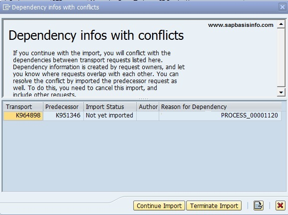 Conflict While Importing Transport Requests