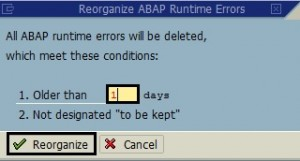 Delete Old Shortdumps from SAP System