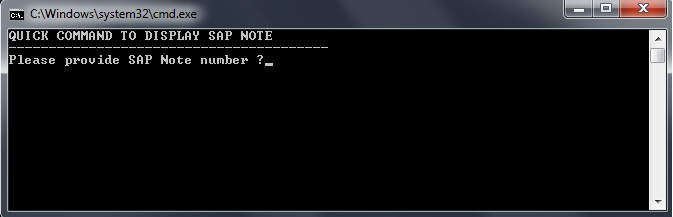 Open SAP Notes Easily via Command Prompt