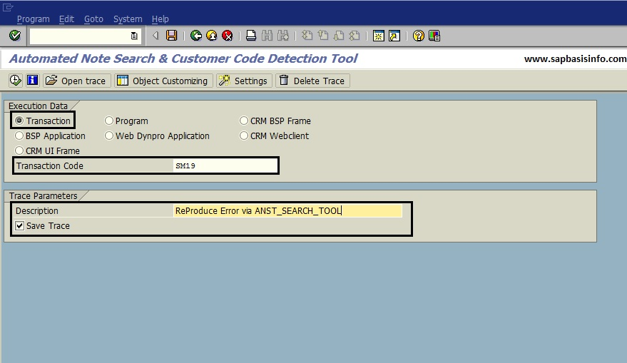 SAP Automated Note Search Tool ANST_SEARCH_TOOL