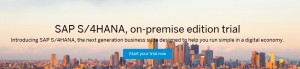 SAP S/4HANA On-Premise Edition Trial