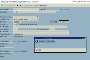 OAC0 : SSF error : invalid signer