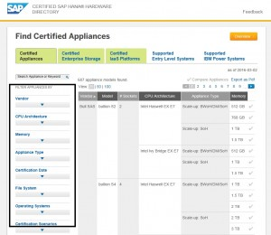 SAP HANA Certified Hardware Check