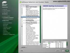 """SUSE Linux """"Software"""" Selection for HANA Installation"""