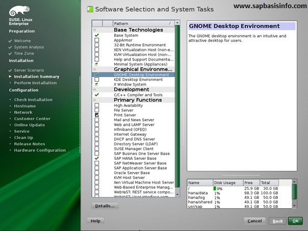 "SUSE Linux ""Software"" Selection for HANA Installation"