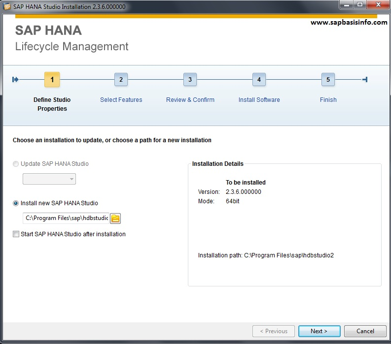 SAP HANA Studio Installation
