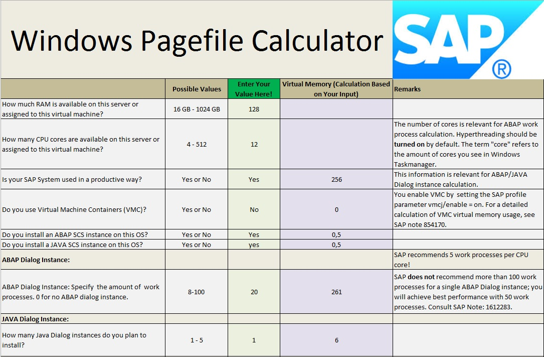 Windows Pagefile Calculator