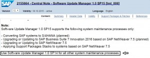 The standalone Software Update Manager GUI is no longer supported