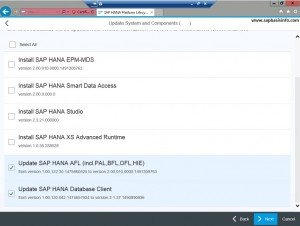 HANA Database Upgrade from 1.0 to 2.0