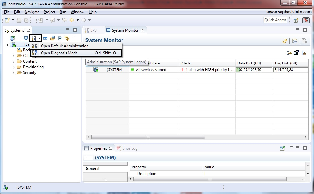 Monitor SAP HANA Systems during START and STOP Process