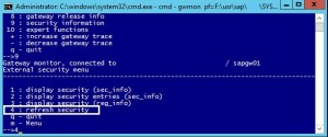 Reloading the reginfo secinfo on JAVA Systems