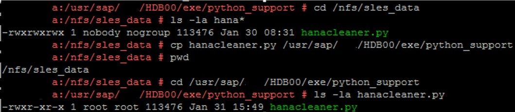 Useful Python Scripts for HANA