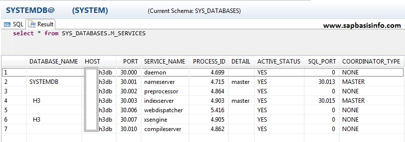 Find Active HANA Ports via SQL Queries | SAPBASISINFO