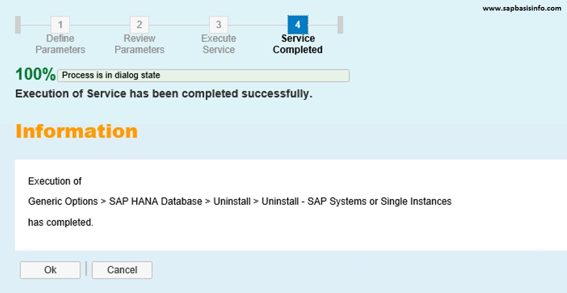 HANA Application Server Uninstall | SAPBASISINFO