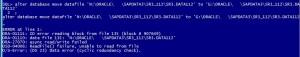 DBVERIFY Result : DBV-00600 Fatal Error